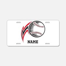 Personalized Baseball Pitch Aluminum License Plate