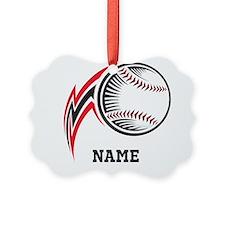 Personalized Baseball Pitch Ornament