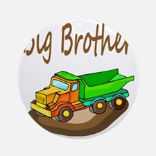 Big Brother Dump Truck Round Ornament