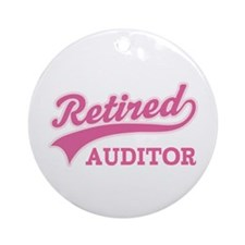 Retired Auditor Ornament (Round)
