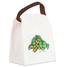 Sleepy Teddy Bear Dragon Canvas Lunch Bag