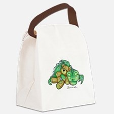 Sleepy Teddy Bear Dragon Canvas Lunch Bag