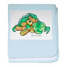 Sleepy Teddy Bear Dragon baby blanket