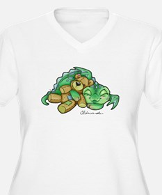 Sleepy Teddy Bear Dragon Plus Size T-Shirt