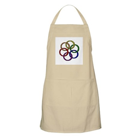 TEXTURED RAINBOW RINGS BBQ Apron