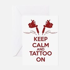 Keep calm and tattoo on Greeting Card