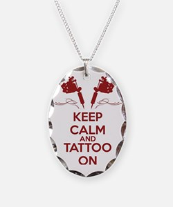 Keep calm and tattoo on Necklace