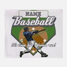 Personalized Home Run Time Throw Blanket