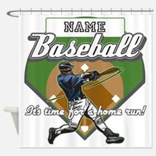 Personalized Home Run Time Shower Curtain