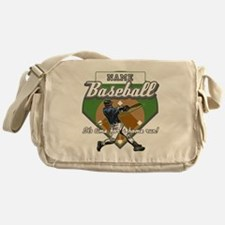 Personalized Home Run Time Messenger Bag