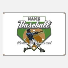 Personalized Home Run Time Banner