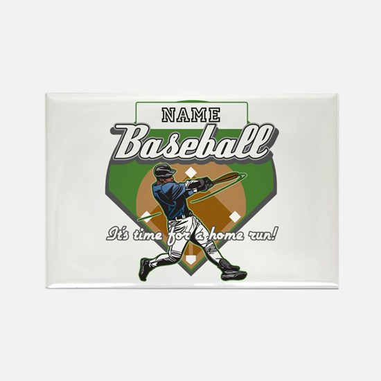 Personalized Home Run Time Rectangle Magnet