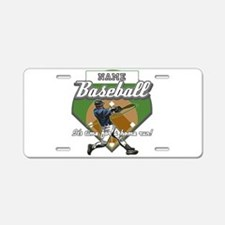 Personalized Home Run Time Aluminum License Plate