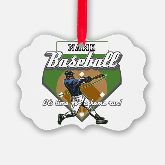 Personalized Home Run Time Ornament