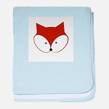 Curious Fox baby blanket