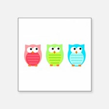Three Wise Owls Sticker