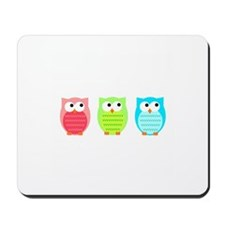 Three Wise Owls Mousepad