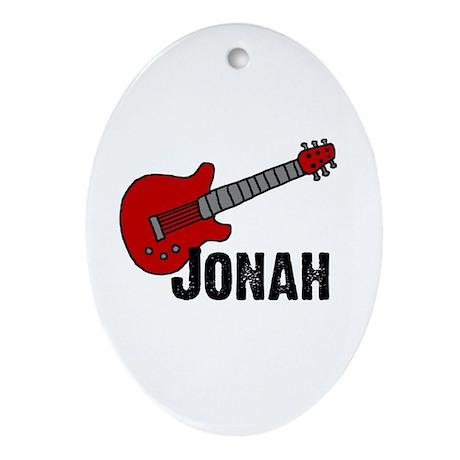 Jonah = Guitar Oval Ornament