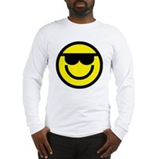 cool dude emoticon Long Sleeve T-Shirt