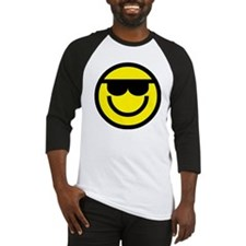 cool dude emoticon Baseball Jersey