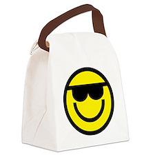cool dude emoticon Canvas Lunch Bag