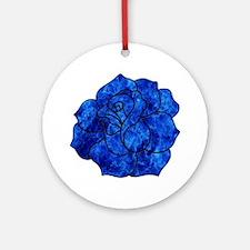 Blue Rose Ornament (Round)