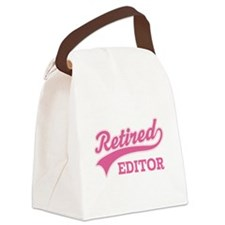 Retired editor Canvas Lunch Bag