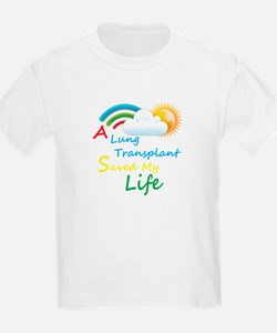 A Lung Transplant Saved my Life Rainbow Cloud T-Shirt