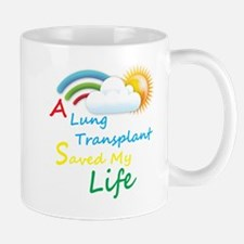 A Lung Transplant Saved my Life Rainbow Cloud Mug