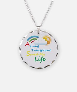 A Lung Transplant Saved my Life Rainbow Cloud Neck