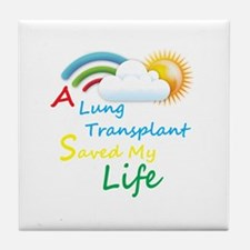 A Lung Transplant Saved my Life Rainbow Cloud Tile