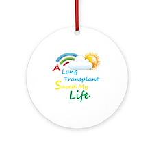 A Lung Transplant Saved my Life Rainbow Cloud Orna