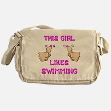 This Girl Likes Swimming Messenger Bag