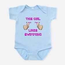 This Girl Likes Swimming Infant Bodysuit