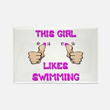 This Girl Likes Swimming Rectangle Magnet