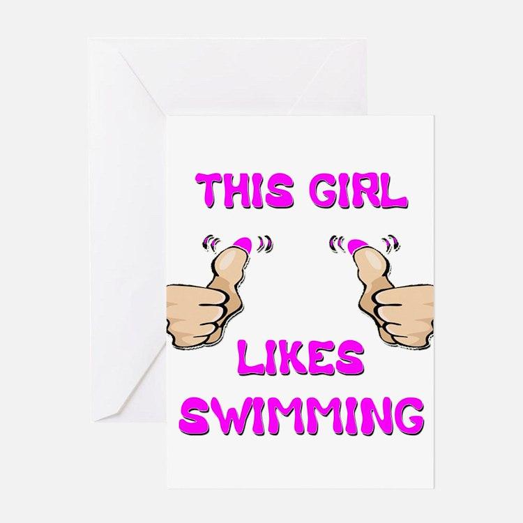 This Girl Likes Swimming Greeting Card