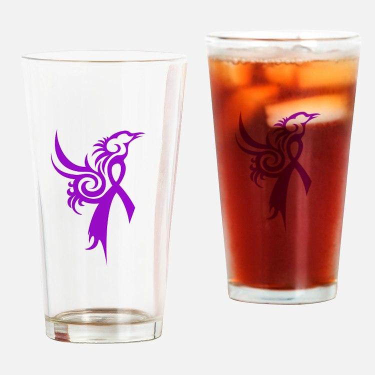 Phoenix in Purple Drinking Glass