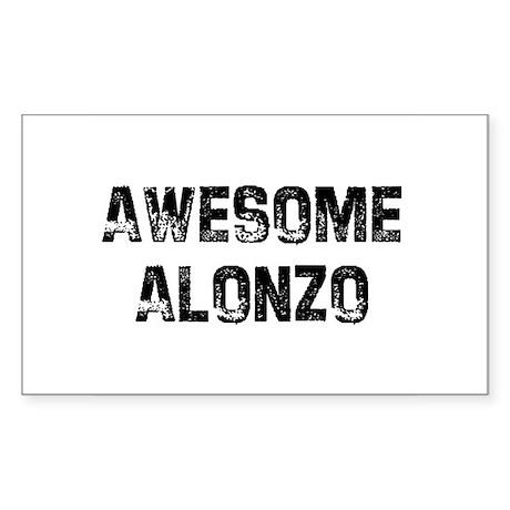 Awesome Alonzo Rectangle Sticker