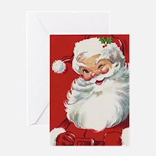 Vintage Christmas, Jolly Santa Claus Greeting Card