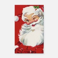 Vintage Christmas, Jolly Sant Rectangle Car Magnet