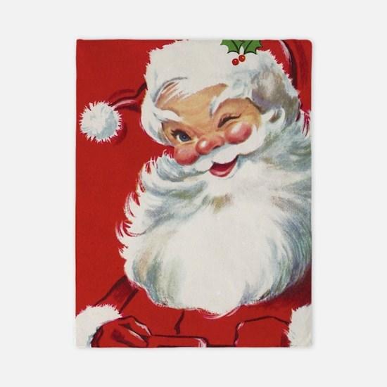 Vintage Christmas, Jolly Santa Claus Wi Twin Duvet