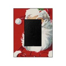 Vintage Christmas, Jolly Santa Claus Picture Frame