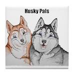 R&W,B&W-C Husky Pals Tile Coaster