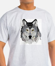 Wolf's Head Ash Grey T-Shirt