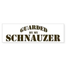 Schnauzer: Guarded by Bumper Bumper Sticker