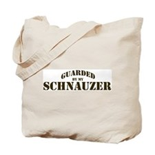 Schnauzer: Guarded by Tote Bag