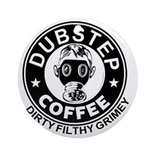Dubstep Coffee Round Ornament