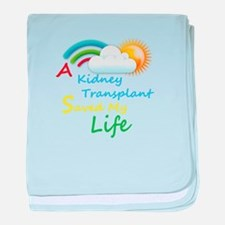 Kidney Transplant Rainbow Cloud baby blanket