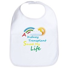 Kidney Transplant Rainbow Cloud Bib