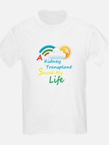 Kidney Transplant Rainbow Cloud T-Shirt